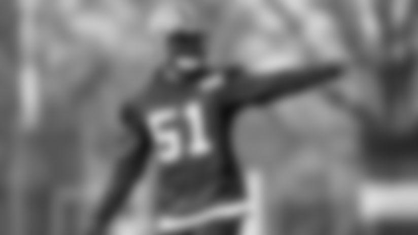 Linebacker Mack Wilson (51) during practice on December 26, 2019.