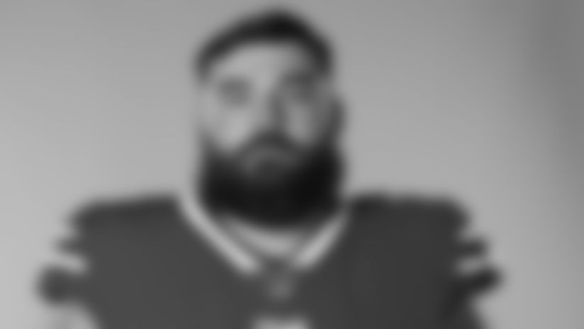This is a 2020 photo of Ryan Bates of the Buffalo Bills NFL football team. This image reflects the Buffalo Bills active roster as of August 1, 2020 when this image was taken.  (AP Photo)