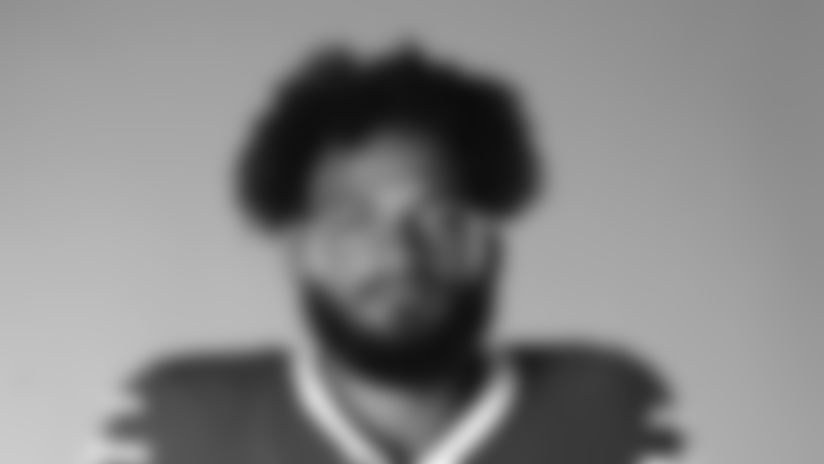 This is a 2020 photo of Gabriel Davis of the Buffalo Bills NFL football team. This image reflects the Buffalo Bills active roster as of July 26, 2020 when this image was taken.  (AP Photo)