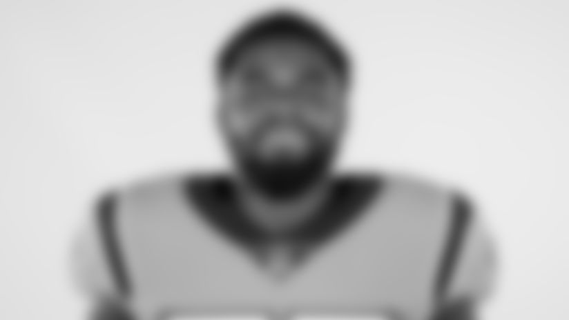 This is a 2020 photo of Andre Smith of the Carolina Panthers NFL football team. This image reflects the Carolina Panthers active roster as of Wednesday, Aug. 5, 2020 when this image was taken. (AP Photo)