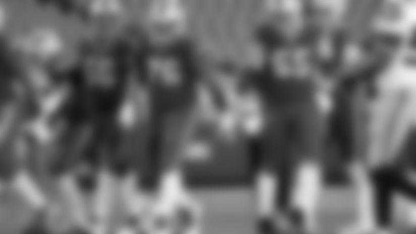 Brian Winters (66),Jon Feliciano (76), Ike Boettger (65). Buffalo Bills vs Seattle Seahawks, November 8, 2020 at Bills Stadium. Photo by Bill Wippert