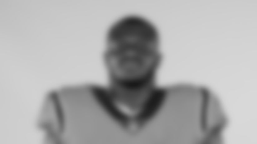 This is a 2020 photo of Efe Obada of the Carolina Panthers NFL football team. This image reflects the Carolina Panthers active roster as of Saturday, Aug. 1, 2020 when this image was taken. (AP Photo)