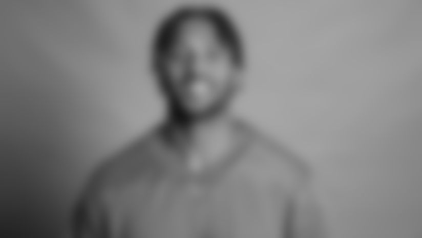 This is a 2021 photo of Outside Linebacker Reggie Gilbert  of the Detroit Lions NFL football team. This image reflects the  active roster as of June 7th 2021, when this image was taken. (AP Photo)
