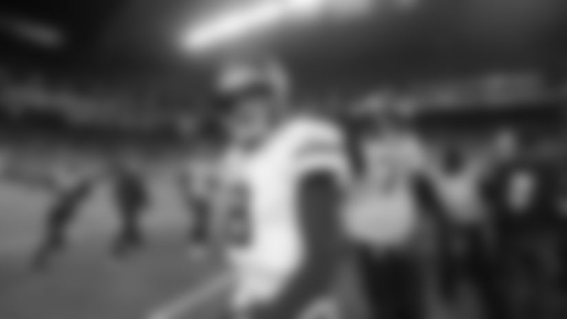 Minnesota Vikings quarterback Kirk Cousins walks off the field after the team lost to the Seattle Seahawks 37-30 in an NFL football game, Monday, Dec. 2, 2019, in Seattle. (AP Photo/John Froschauer)