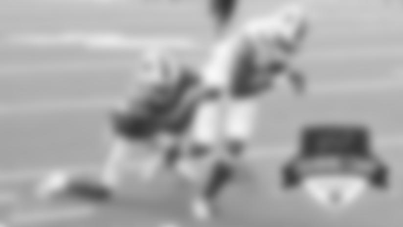 Gabriel Davis (13) and Dane Jackson (30) Buffalo Bills Training Camp scrimmage at Bills Stadium, August 27, 2020. Photo by Sara Schmidle