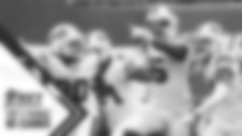 Jerry Hughes (55) interception Buffalo Bills vs New York Jets, October 25, 2020 at MetLife Stadium. Photo by Bill Wippert