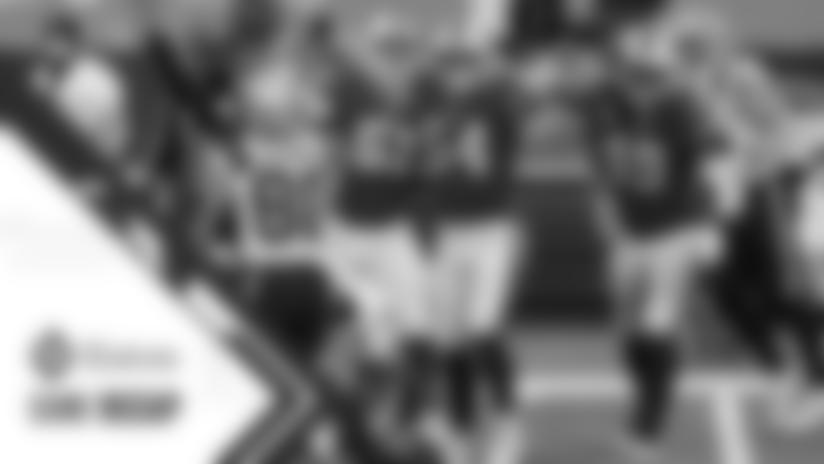 Cam Newton (1) fumble by Justin Zimmer (61) Buffalo Bills vs New England Patriots, November 1, 2020 at Bills Stadium. Photo by Sara Schmidle