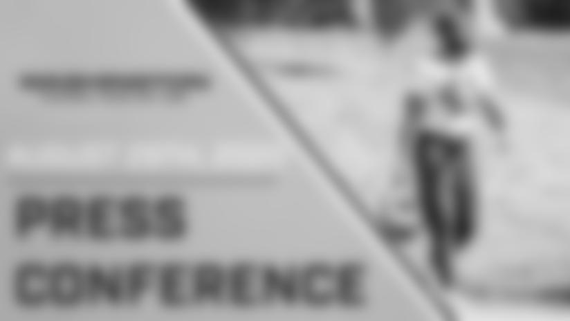 J.D. McKissic Press Conference | August 29, 2020