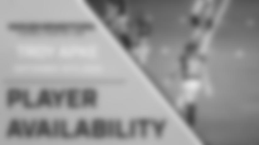 Player Availability: Troy Apke   September 16th, 2020