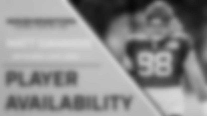 Player Availability: Matt Ioannidis   September 23, 2020