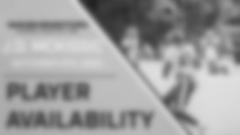 Player Availability: J.D. McKissic | September 8th, 2020