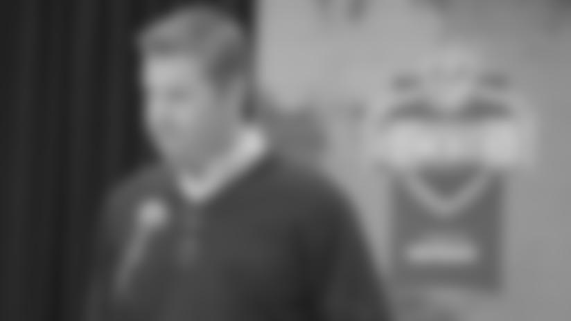Bill O'Brien and Brian Gaine at NFL Combine