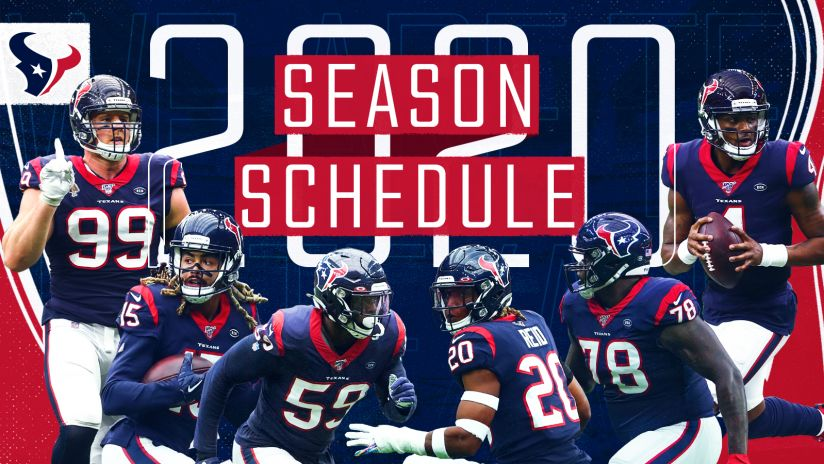 Houston Texans Announce 2020 Schedule