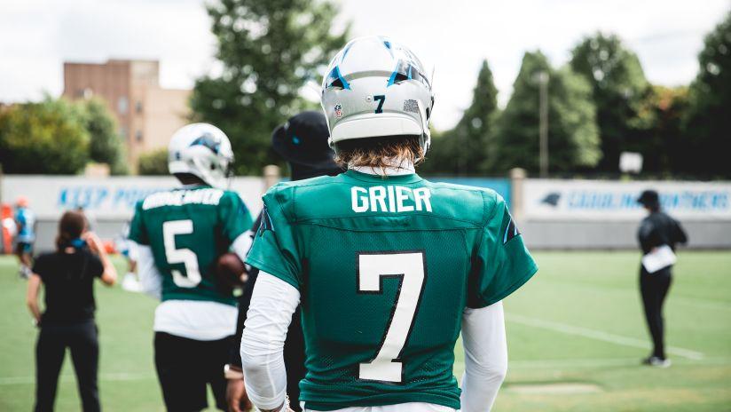 Carolina Panthers #3 Will Grier Draft Game Jersey - Black
