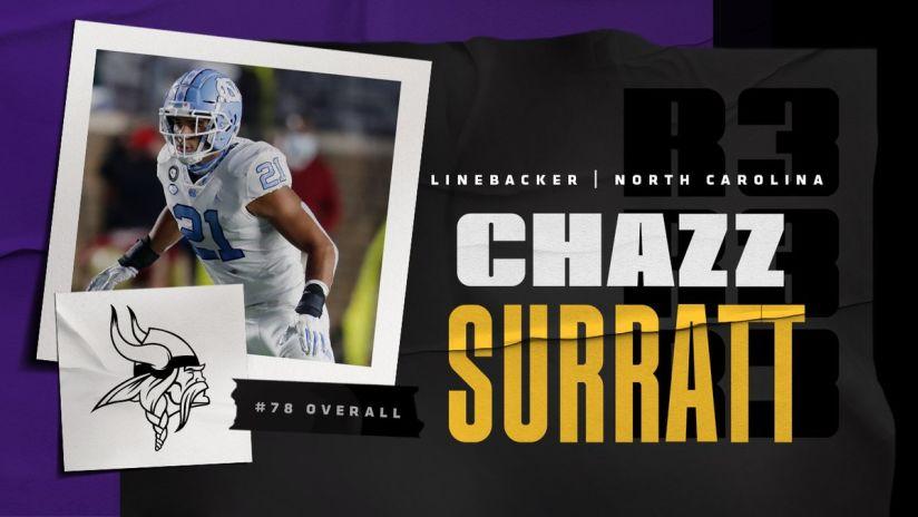 Chazz Surratt North Carolina Tar Heels Jordan Football Jersey - Light Blue