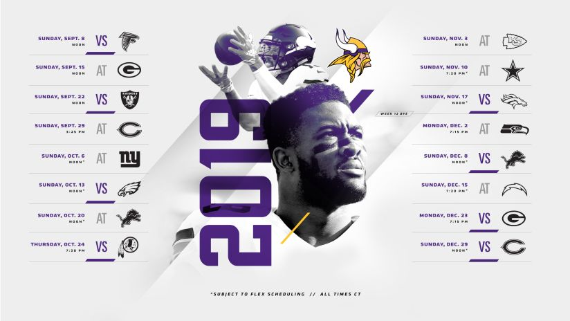 Nfl Games Christmas Day 2020.Minnesota Vikings 2019 Schedule Released