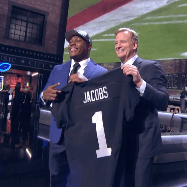 Rookie Josh Jacobs Gives Back at Draft