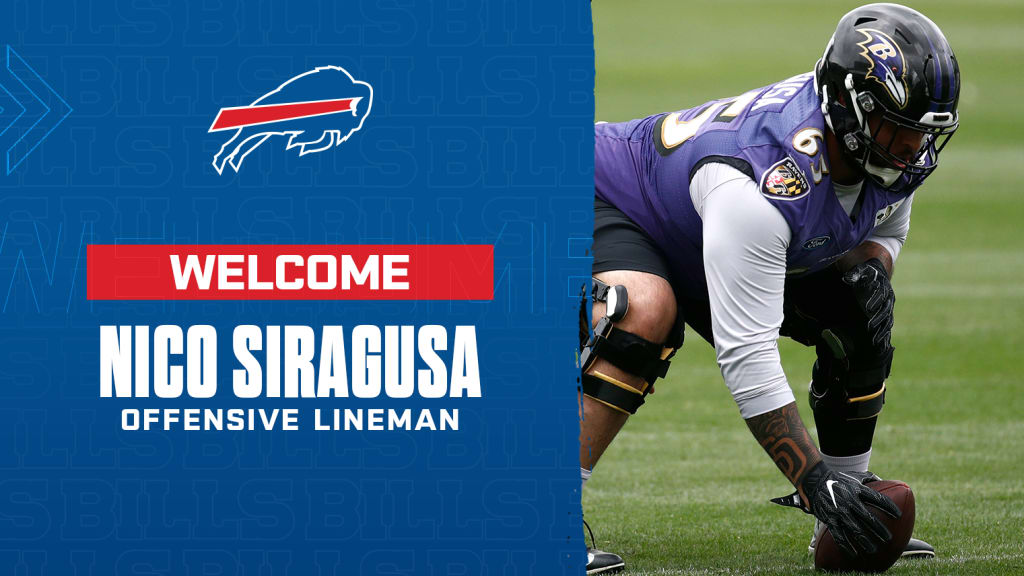 reputable site 11eb3 d7f38 Bills use open roster spot, sign guard Nico Siragusa