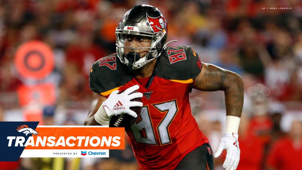 Broncos waive Davontae Harris, sign Jordan Leggett to practice squad
