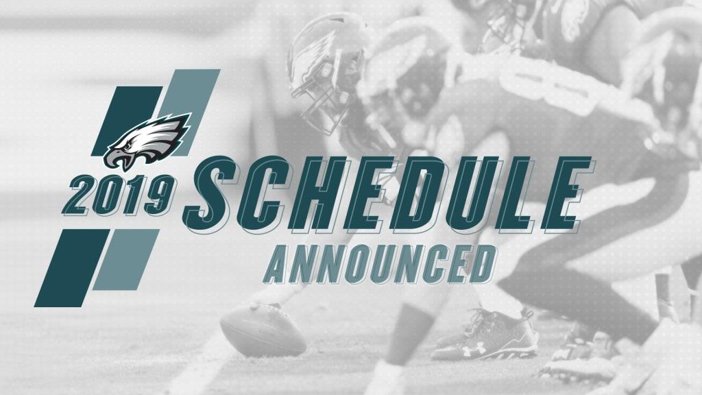 d74251d7 Philadelphia Eagles Release 2019 Schedule