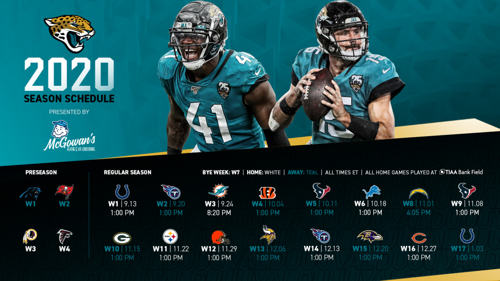 Official Jaguars 2020 Schedule Released