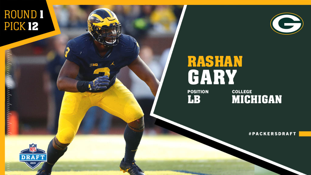 brand new 9ed81 cdec7 Quick pick: Packers select Michigan LB Rashan Gary at No. 12 ...