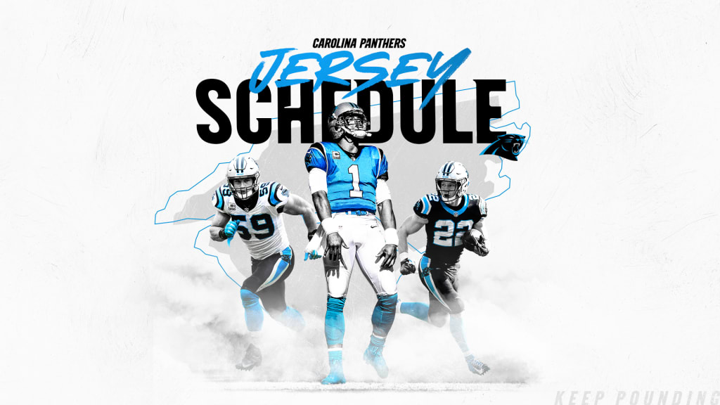 best website 8f942 bdb86 Panthers reveal 2019 jersey schedule