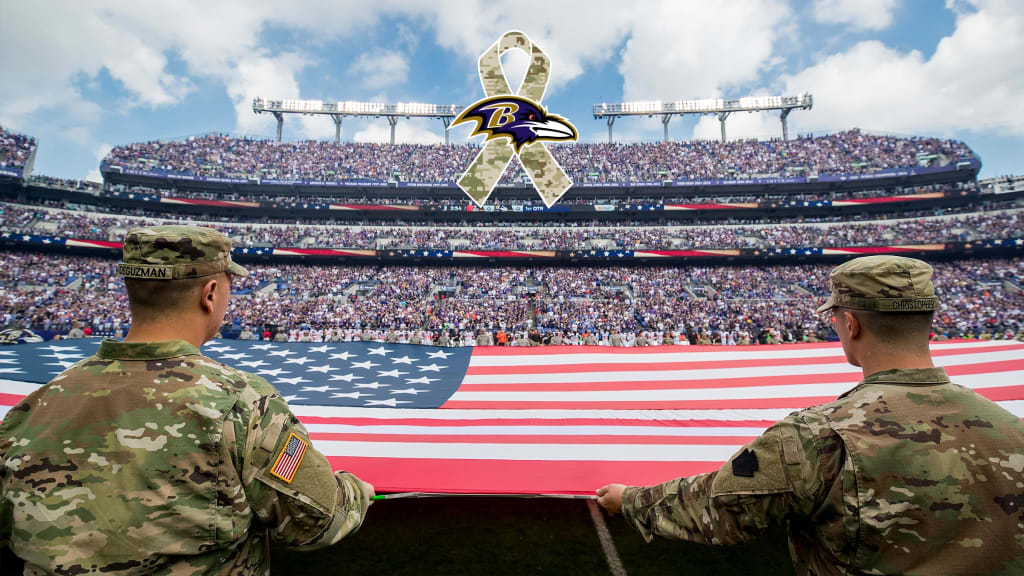 on sale 04ff2 9f2e6 Ravens Honor Military Through Salute to Service Efforts