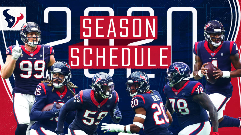 Houston Texans Announce 2020 Schedule