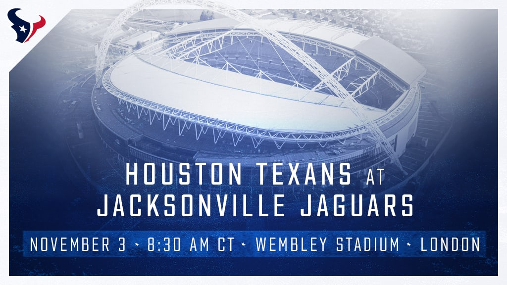 Texans To Play Jaguars In London In Week 9