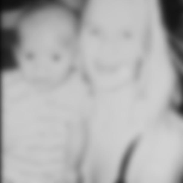 Gabriel Davis as a baby with his mom Alana.