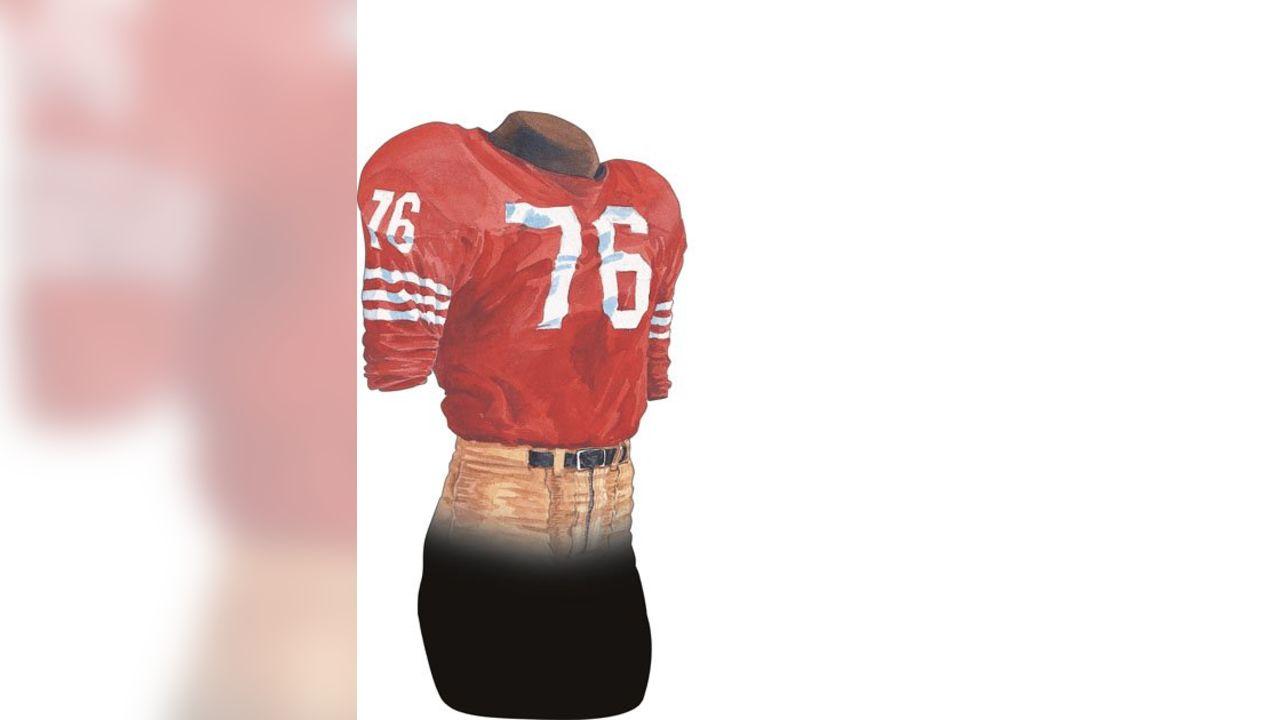 quality design 6380c 7c125 Throwback: 49ers Uniform History