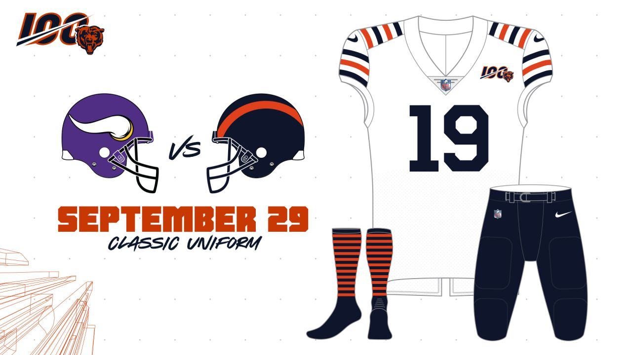 Bears reveal uniform schedule for home games