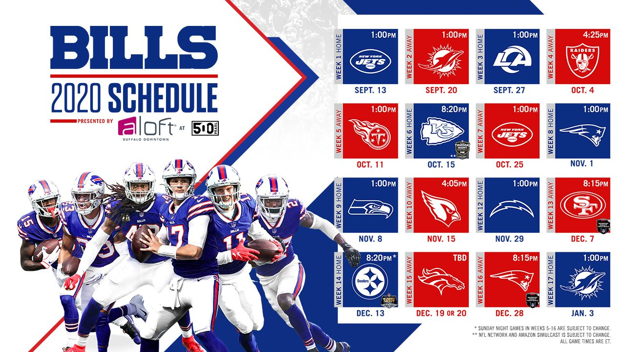 2020 Buffalo Bills Schedule Complete Schedule Tickets And Match Up Information For 2020 Nfl Season