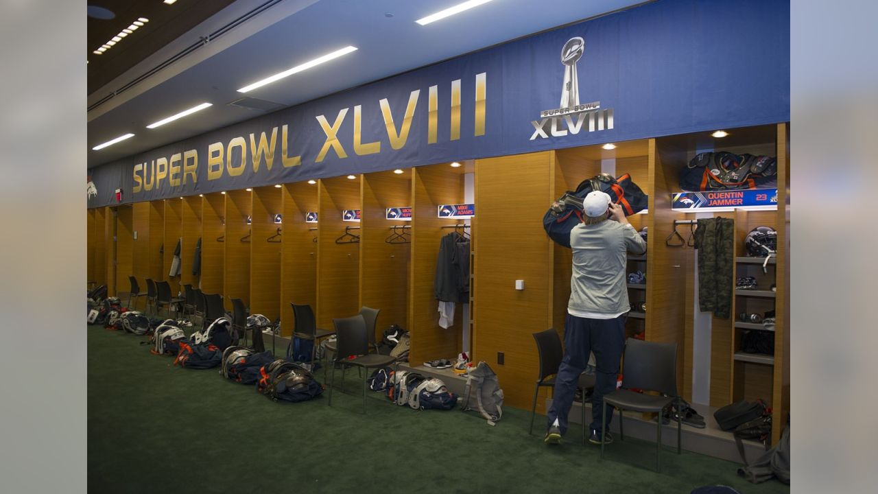 Broncos Super Bowl Locker Room
