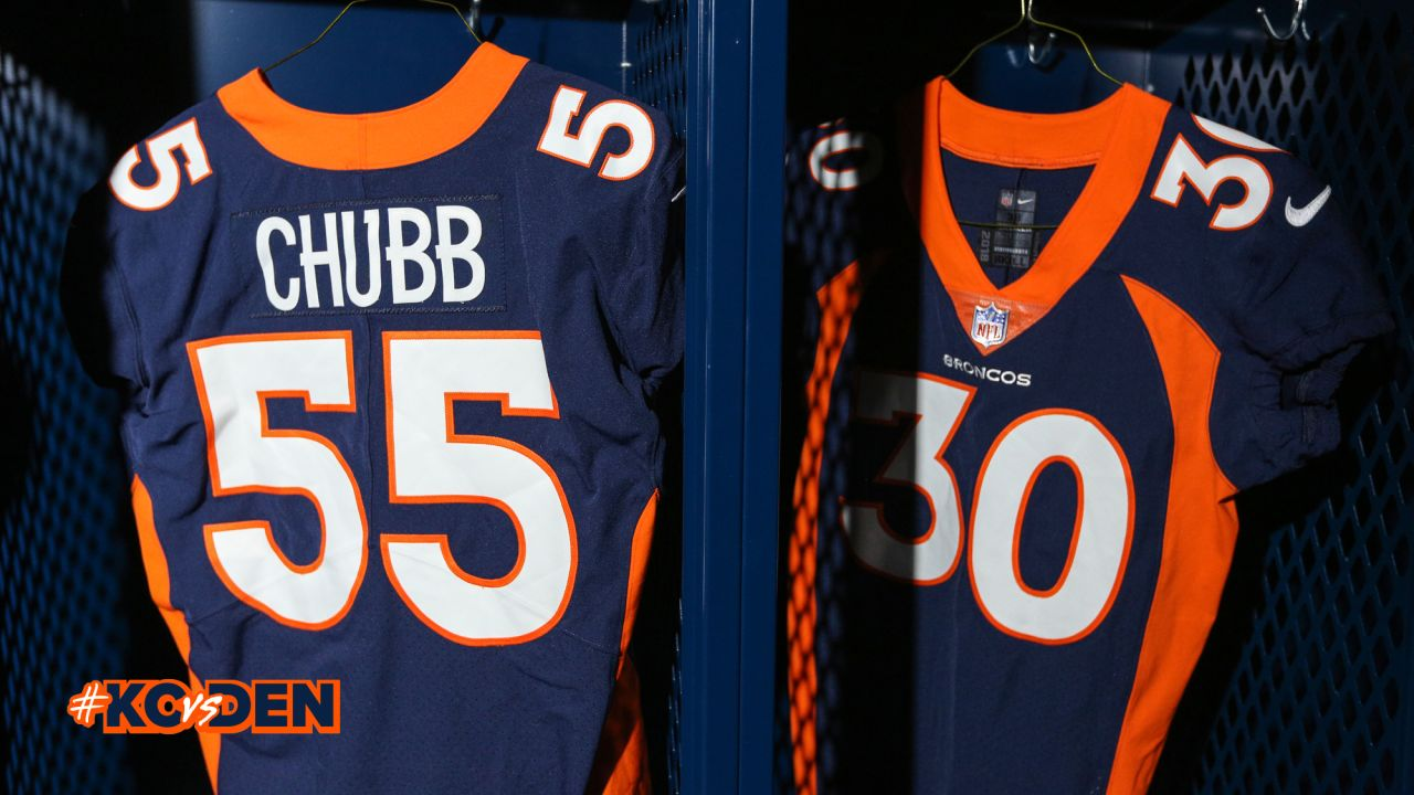 official photos 2e4bb daa3b Broncos to wear all-navy uniforms vs. Kansas City