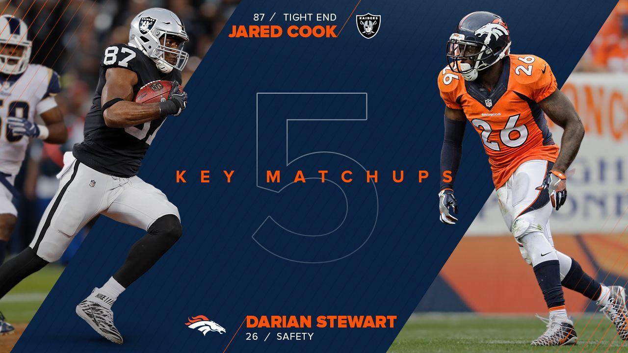 8d1a11a6 Five Key Matchups: Broncos vs. Raiders