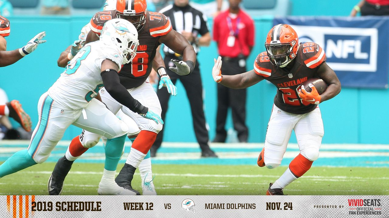 image regarding Miami Dolphins Printable Schedule known as Cleveland Browns announce 2019 plan