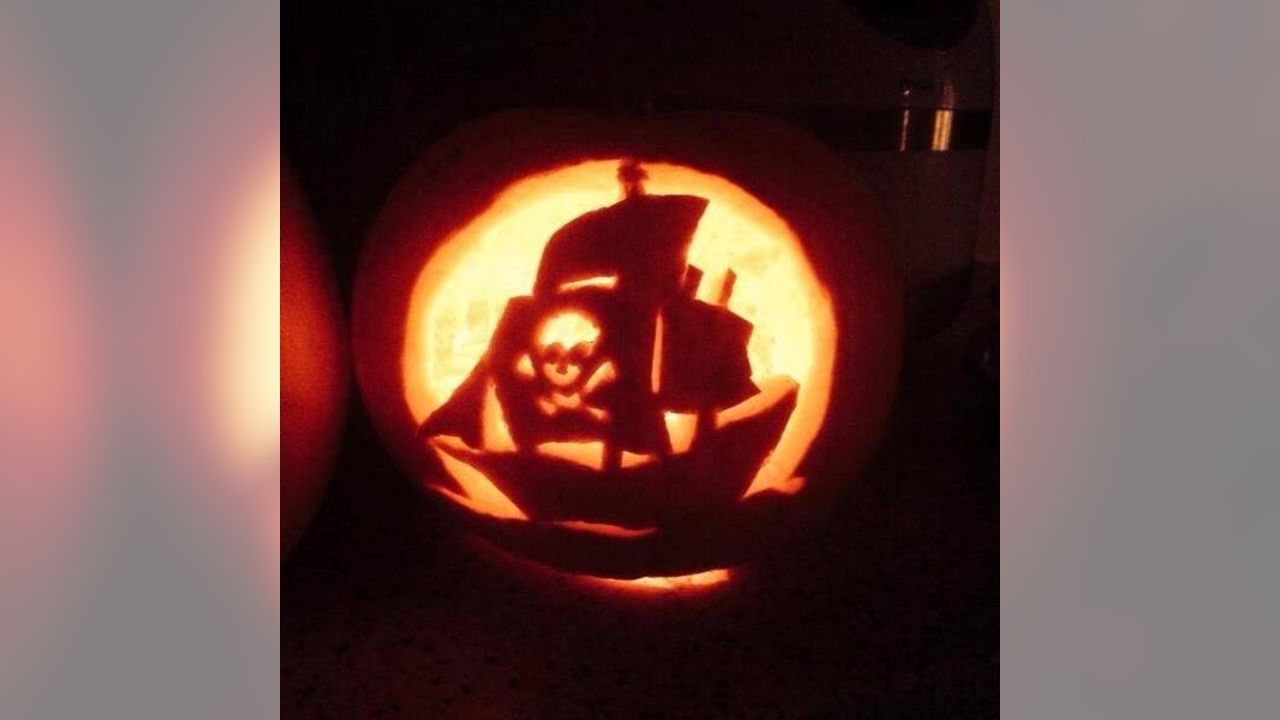 The Best Buccaneers Pumpkin Stencil