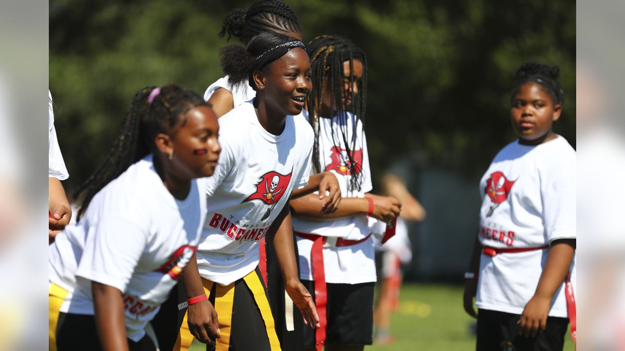 f7b99299 Over 200 Girls Participate in Flag Football Clinic in Advance of Jr ...