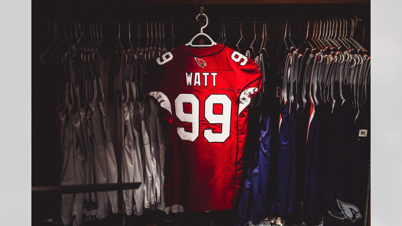 First Look: J.J. Watt's No. 99 Cardinals Jersey