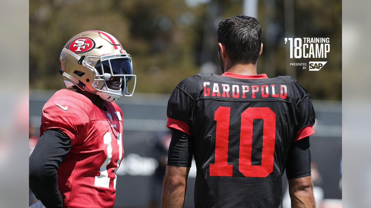 WR Marquise Goodwin and QB Jimmy Garoppolo