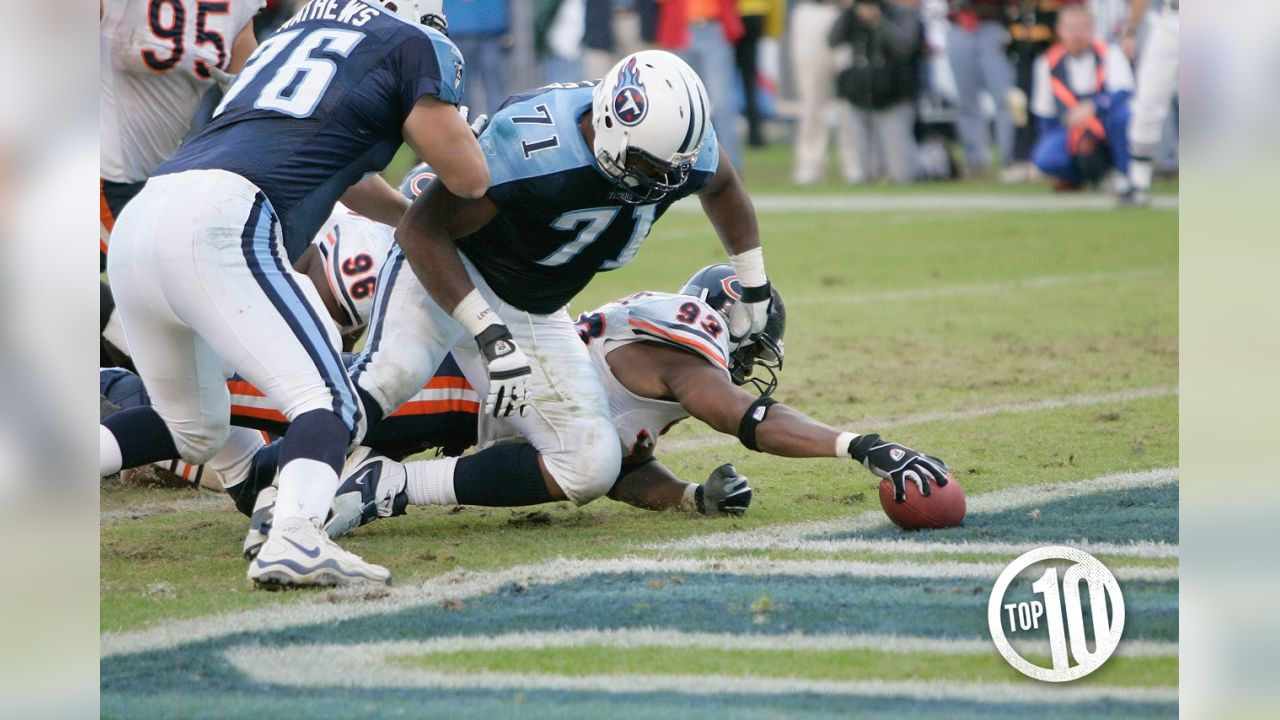 10. Bears 19, Titans 17 - Nov. 14, 2004: The Bears became the second team in NFL history to win an overtime game on a safety as Alex Brown sacked Billy Volek, forcing a fumble the Titans recovered in the end zone.