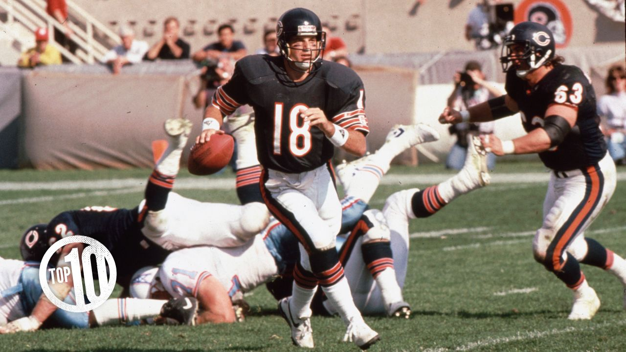 (10) Mike Tomczak, quarterback (1985-90)  Tomczak appeared in 77 games with 31 starts in six seasons with the Bears, compiling a 21-10 record while passing for 6,247 yards and 33 touchdowns.