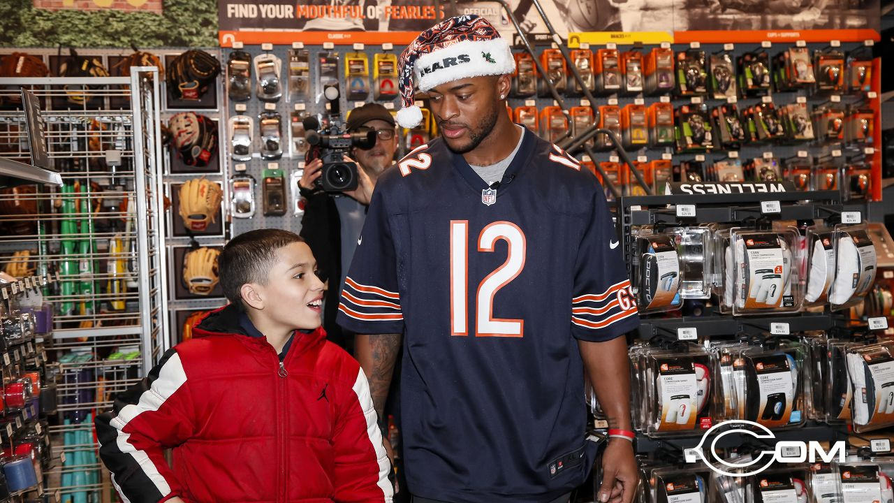 Chicago Bears wide receiver Allen Robinson II (12) host a shopping event for local youth, Tuesday, December 3, 2018, in Chicago, Illinois.