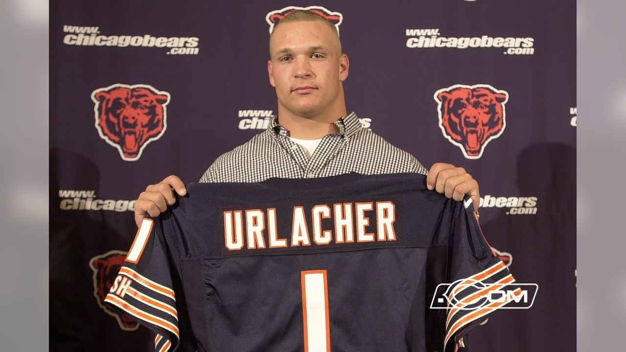 2000: Brian Urlacher's introductory press conference after being selected by the Bears.
