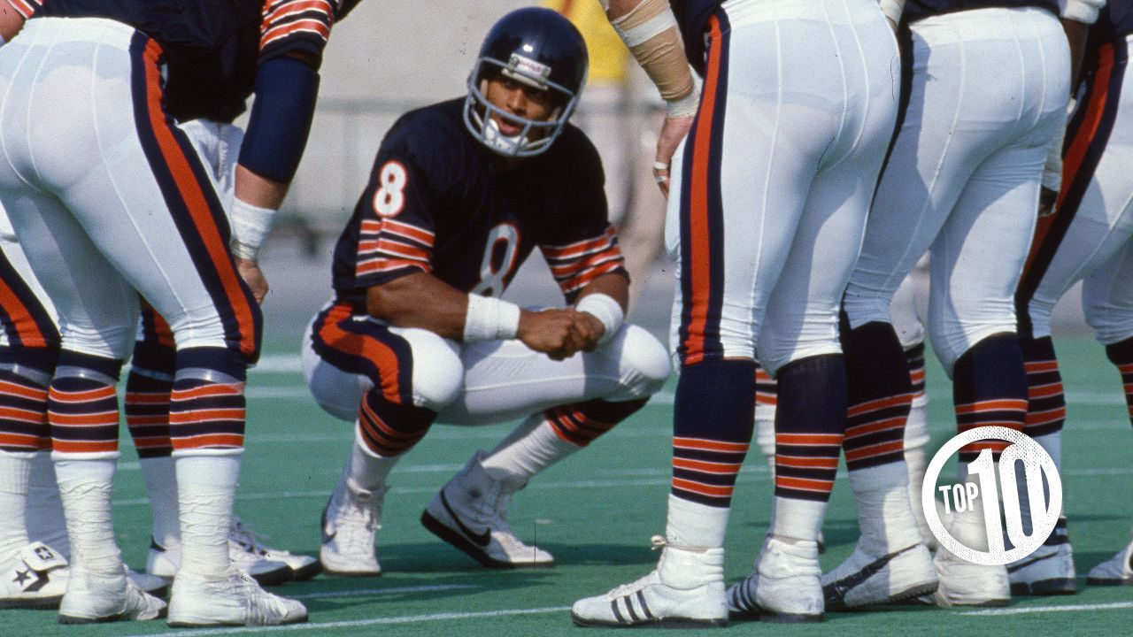 (10) Vince Evans, quarterback (1977) Evans played his first seven NFL seasons with the Bears, appearing in 56 games with 32 starts and passing for 6,172 yards and 31 touchdowns.