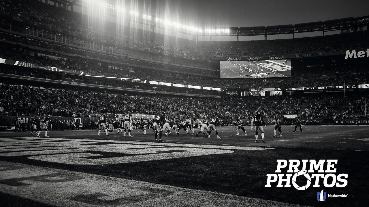 Chicago Bears take on the New York Giants, Sunday, December 2, 2018, in East Rutherford, New Jersey.