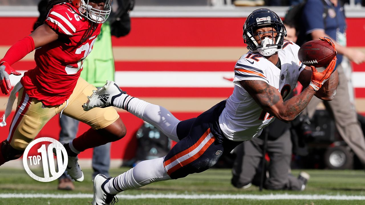 (10) Allen Robinson II, receiver  Robinson played like a true No. 1 receiver in his first season with the Bears in 2018, rebounding from a torn ACL that cost him most of the 2017 campaign when he was with the Jaguars to catch 55 passes for 754 yards and four touchdowns.