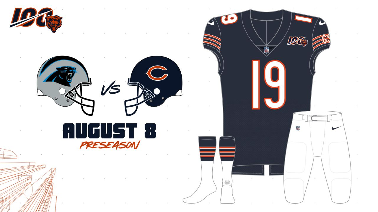 2019 Bears uniform schedule